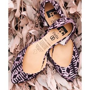 Carry Change African Print Purple Flats